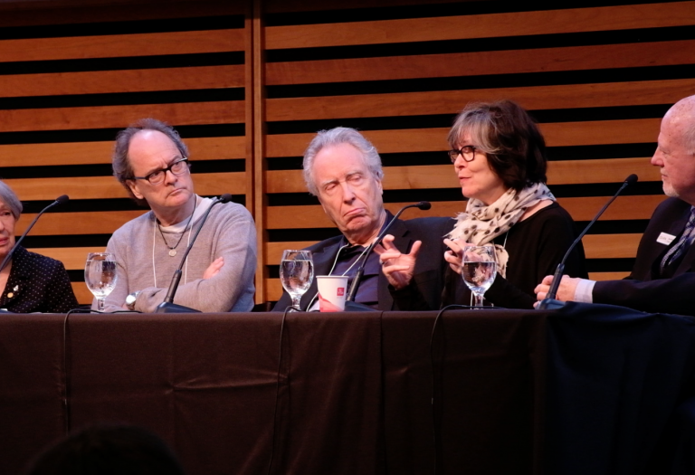 Panel: Joysanne Sidimus, Tom Campbell, David Warrack, Laurie Brown, Scott Walker